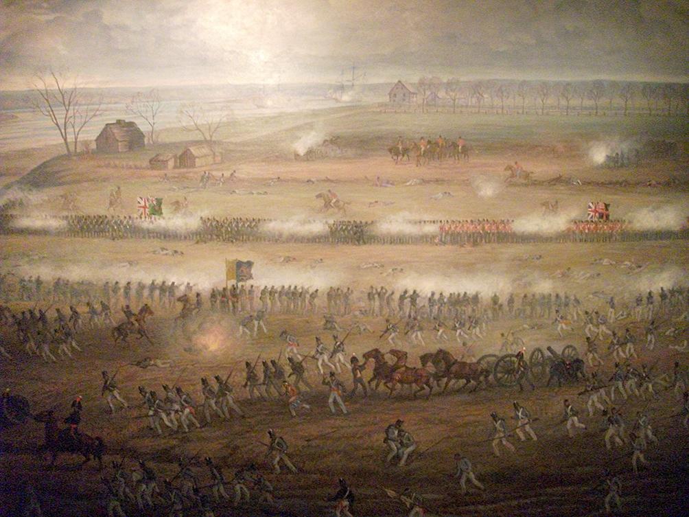 Batalha entre Estados Unidos e Inglaterra pelo controle do rio St Lawrence